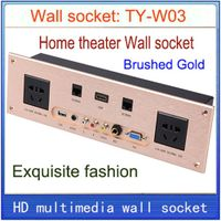 Wall socket Universal plug HDMI VGA USB Network RJ45 Video MIC information multimedia home hotel KTV