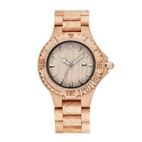 Japan Movement Bamboo Wood Watch Custom Logo