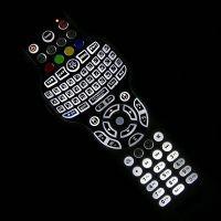 Hotel remote control with 2.4G RF mini keyboard mouse IR learning+backlight