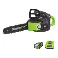 Greenworks 40 Volt Li-Ion Chainsaw - 14in. Bar, 3/8in. Chain Pitch, Model# CS40L210 thumbnail image