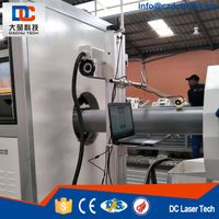 Portable 20W Fiber Laser Marking Machine Laser Printing computer control system for PE PVC single-pi