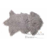 Mongolian fur rug curly skin