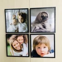 20x20CM(8x8inch) Custom Happiness Gift Picture Mixtiles Frame Wall Sticky Restickable Photo Frames