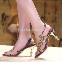 Fashion High Heel Lady Sheepskin Sandals, Women Casual Shoes