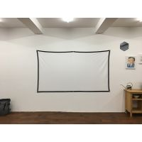 100 inch Projector Polyester Screen HD Folding Anti-Crease Portable Hologram Projection Movies Scree thumbnail image