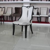 Restaurant dining Chair, leather upholstered dining chair, banquet chair
