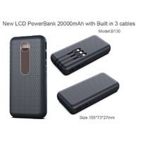 New LCD PD22.5W/45W Powerbank 20000mAh with built in 3 cables for all phones