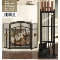 Fireplace Guard screen set,fireplace accessories,Metal Fireplace Tools Set
