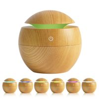 WF103 Wafue 130ml Wood Grain 7 Color LED Ultrasonic Aroma Diffuser