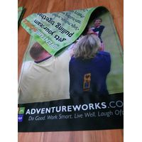 Heat transfer print on outdoor Street pole banner with 250gsm fabric
