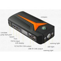 V6 car emergency power bank jump starter 15000mAh 500A peak warning light USB