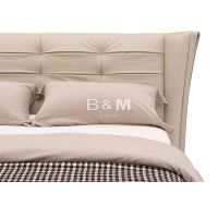 Bed With Unique Headboard modern leather king size bed OEM modern leather queen size bed  thumbnail image