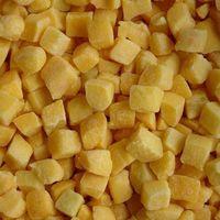 Frozen yellow peach dices