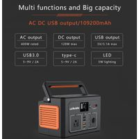 400W portable solar generator with 400Wh lithium ion battery