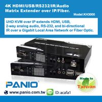4K HDMI/USB/RS232/IR/Audio Matrix Extender over IP&Fiber-KH3000
