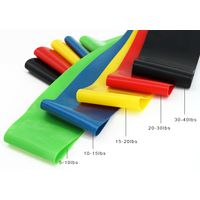 Custom Resistance Exercise Band 5 Exercise Loop Band With Instructional Booklet thumbnail image