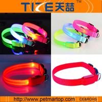 Dog collar glowing dog products TZ-PET2110 led flashing dog collar