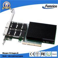 Intel XL710 Chip 40G Dual Port Adapter Fiber Optic Network Card QSFP+ Slot PCI Express x8 Card