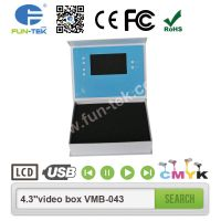 Light Sensor 4.3 inch Video Presentation Box LCD in Packaging A5 Size for Promotional Gifts VMB-043