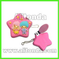 Cartoon animal cute soft pvc nail clippers for home customized