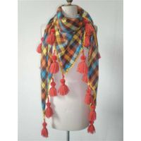colourful sriped scarf with tassel