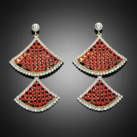 2014 New Fashion Stylish Red Rhinestone Crystal Dangle Earrings For Women/Party Charm Fashion Jewelr thumbnail image