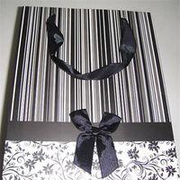 black striped paper bag thumbnail image