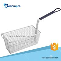 Stainless Steel Wire Mesh Fryer Basket with Vinyl Handle thumbnail image