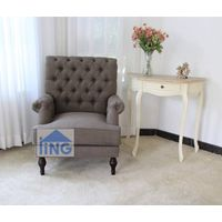Brown color single chair home sofa chair fabric armchair-SL1605