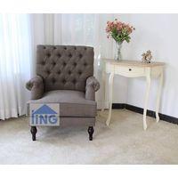Brown color single chair home sofa chair fabric armchair-SL1605
