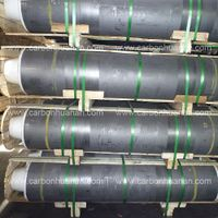 Good Electrical Conductivity HP Graphite Electrode With Nipple For Refining Furnace thumbnail image
