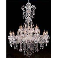 Luxry hotel project glass arm modern crystal chandelier pendant lighting