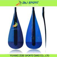 Blue Transparent Fiberglass Kids Paddle