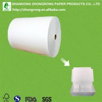 PE coated paper for take out food container