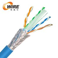 550Mhz Cat6 Bulk Bare Copper Ethernet Cable, STP, Solid, Riser Rated (CMR), 23AWG