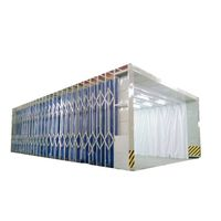 Professional retractable spray booth paint booth/bake paint booth for sale