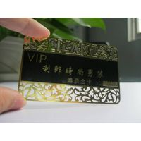 metal business card with die cutting design
