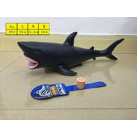High simulation animal model shark toys with sound environmental material vinyl stuffed cotton pvc