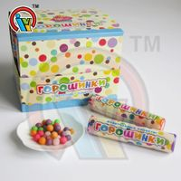Colorful Fruits Litchi Pressed Candy in Tube
