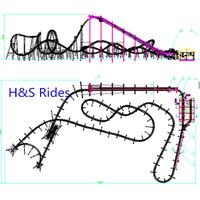 Suspended Roller Coaster, amusement park rides