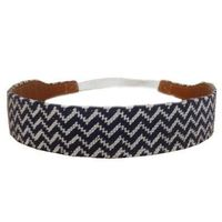 Needlepoint headband with tan leather color for women