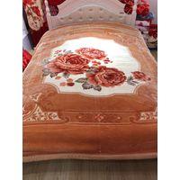 100% Polyester Flower Print Raschel Fleece Blanket thumbnail image