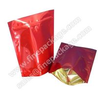 Customized stand up ziplock plastic coffee bean packaging bag/food packaging aluminum plastic bags /