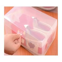 Transparent plastic Clear PP Box Wedding Favors And Gifts Box Translucent Bag For Candy Wedding Deco thumbnail image