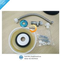 Toilet bowl gasket with toilet connector Toilet Installation Kit