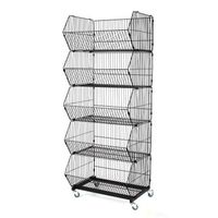 Promotion Metal Stacking Wire Basket Shelf  for Sale thumbnail image