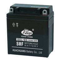 SMF Motorcycle battery, YB3L-BS, maintance free, rechargeable, storage, starting, factory activated,