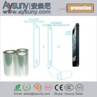 AB double side adhesive PET protective film roll for toughened glass screen protector