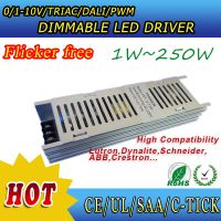 No flikcer dimmable power supply 12V 24V for strip