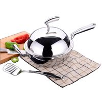 18/10 Stainless Steel Cookware Chinese Cooking Wok (SX-WO32-19)